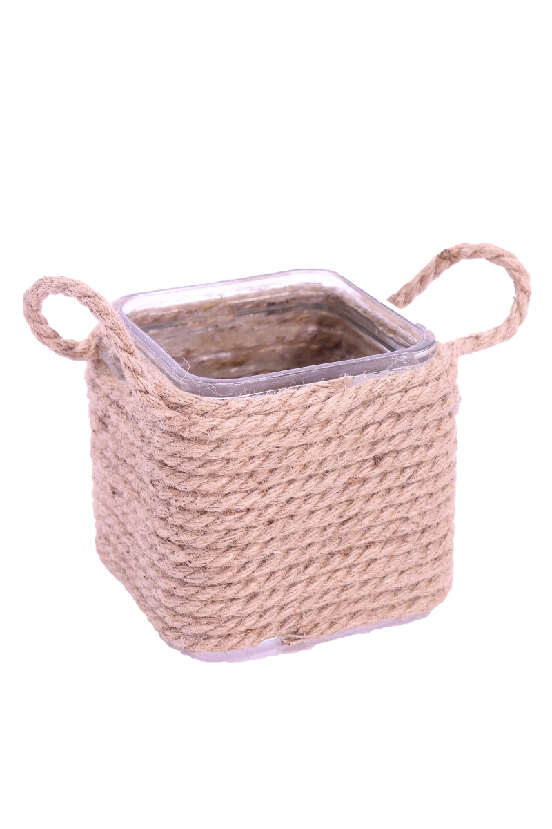 Porta vaso - Hemp Rope Glass